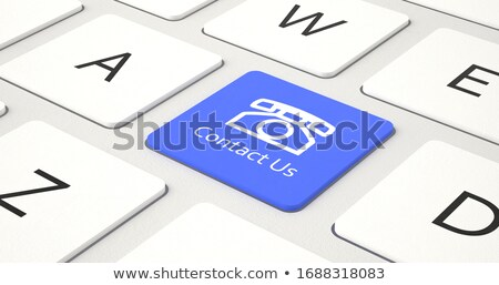 Global Service - Message on the Blue Keyboard Button. 3D. Stock photo © tashatuvango