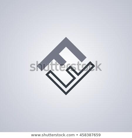 brief · logo · kunst · bouw · ontwerp - stockfoto © vector1st
