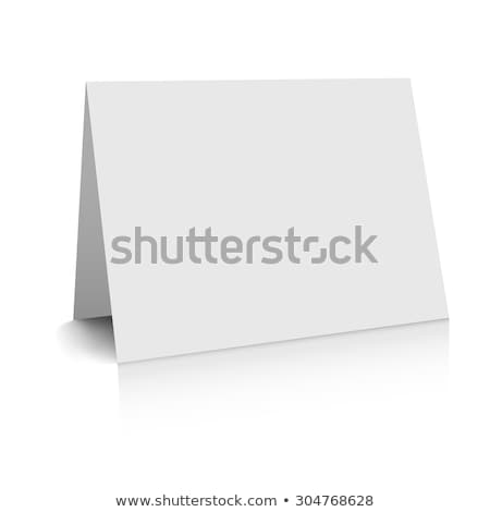 Folded paper mockup card isolated on white background Stock photo © sidmay