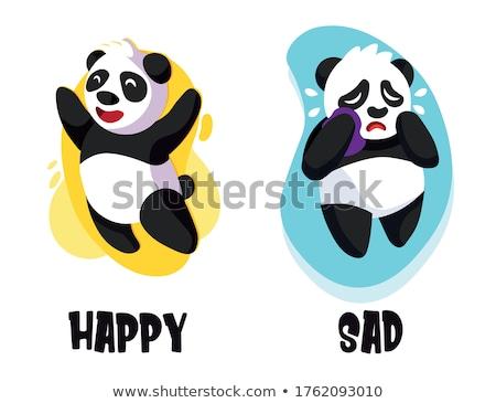 Contrario parola felice triste illustrazione business Foto d'archivio © bluering