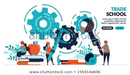 Construction industry education. Vector Illustration. Stock photo © alexmillos