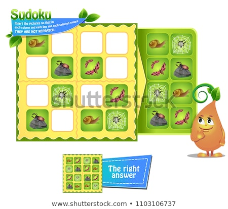 Sudoku game  insects iq Stock photo © Olena