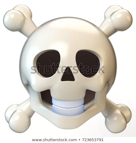 Schedel botten hoofd skelet icon gezicht Stockfoto © popaukropa