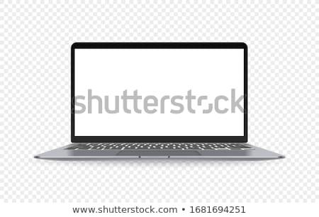 Biały 16 monitor czarno białe monitor komputerowy ciemne Zdjęcia stock © romvo
