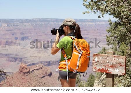 фотограф · съемки · Гранд-Каньон · красивой · пейзаж · облака - Сток-фото © feverpitch