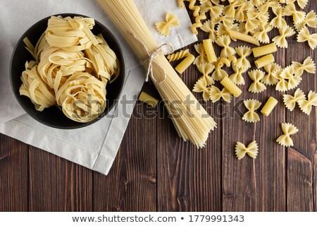 Spaghetti of different kind on napkin Stock photo © dash