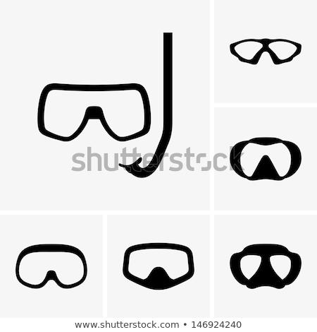 アイコン スキューバダイビング マスク 薄い 行 デザイン ストックフォト © angelp