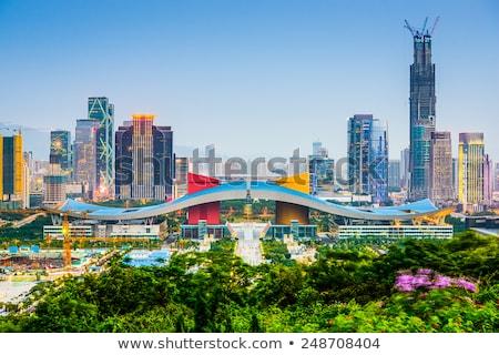 Paisaje urbano China horizonte ciudad crepúsculo Hong Kong Foto stock © cozyta