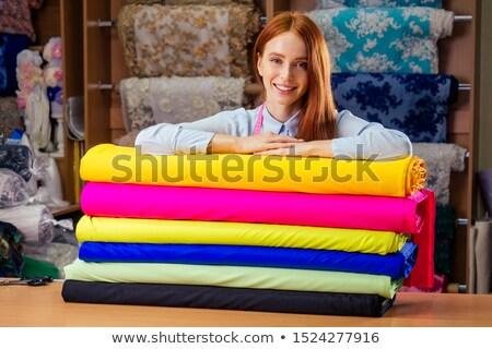 красочный · ткань · рынке · магазин - Сток-фото © lunamarina