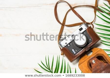 Eski Retro film kamera deri durum Stok fotoğraf © dash