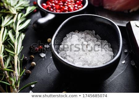 Stok fotoğraf: çanaklar · baharatlar · et · küçücük · aromatik · ayakta