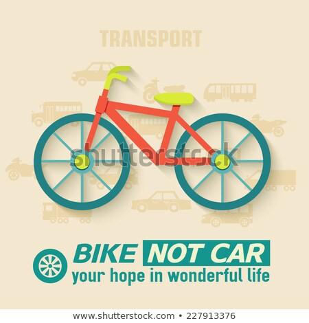 Bisiklet örnek web hareketli dizayn yol Stok fotoğraf © Linetale