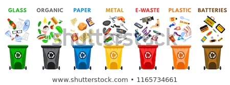 Plastic and Organic Waste Isolated on White Banner Stock photo © robuart