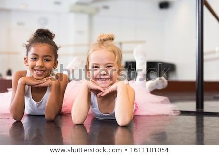 Dance scuola bella ballerina studio blu Foto d'archivio © msdnv