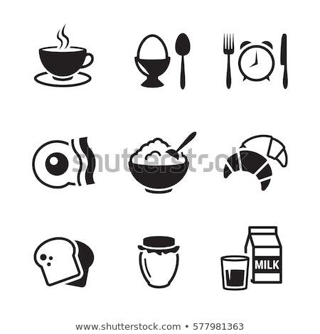 vector breakfast icon set stock photo © tele52