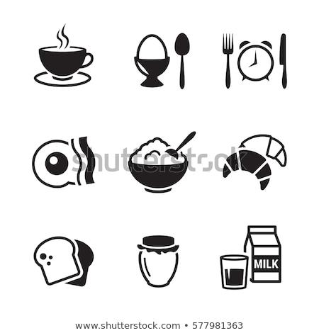 Stock photo: Vector breakfast icon set