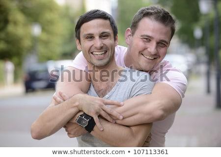 カップル 二人の男性 実例 セックス 抽象的な 面白い ストックフォト © adrenalina