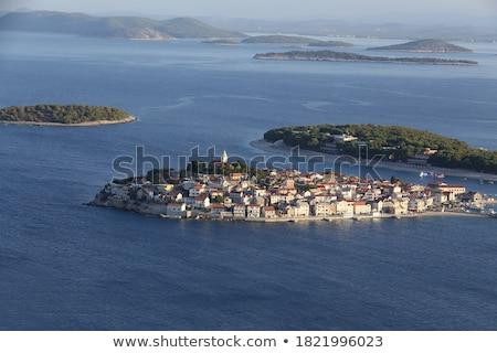 Adriatic tourist destination of Primosten aerial archipelago vie stock photo © xbrchx