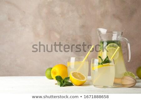 Mint lemon detox water pitcher Stock photo © maxsol7