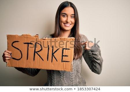 Striking brunette beauty. Stock photo © lithian
