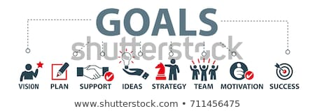 Goals and objectives concept banner header. Stock photo © RAStudio