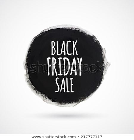 black · friday · vásár · szalag · vektor · hirdetés · alkotóelem - stock fotó © robuart