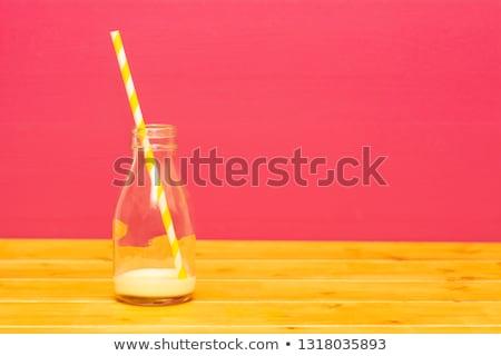 ミルク ボトル バナナ わら パイント ガラス ストックフォト © sarahdoow