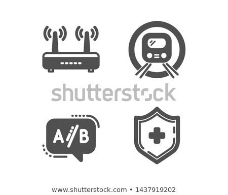 Kalkan ikon wifi imzalamak dizayn yalıtılmış Stok fotoğraf © kyryloff