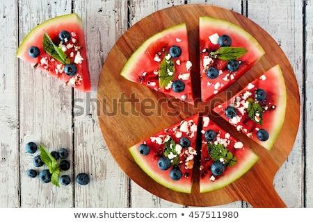 Stock fotó: Görögdinnye · pizza · gyümölcs · bogyók · egészséges · nyár
