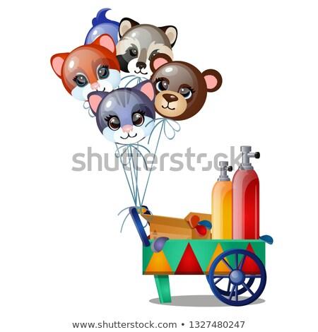 セット ヘリウム 風船 フォーム 面白い 動物 ストックフォト © Lady-Luck