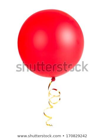 Piros léggömb fotó tárgy vágási körvonal buli Stock fotó © CrackerClips