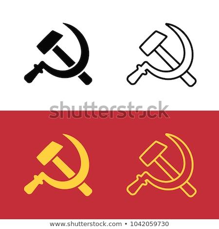 Communisme cartoon iconen eps 10 achtergrond Stockfoto © netkov1