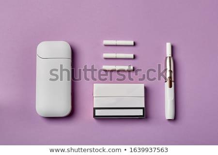 Cigaretta technológia elektronikus dohányzás technológiák szimbólum Stock fotó © Lightsource