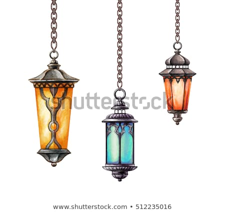 decorative hanging lanterns ramadan kareem background Stock photo © SArts