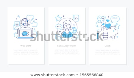 Stock fotó: üzlet · fogalmak · szett · vonal · terv · stílus