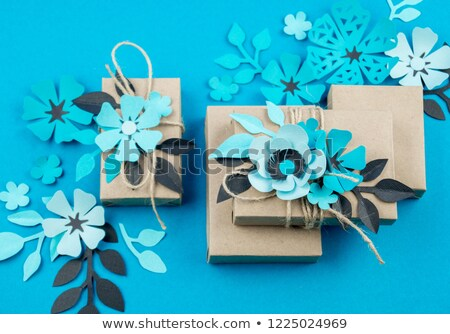 flower made of paper decor origami for holiday stock photo © robuart