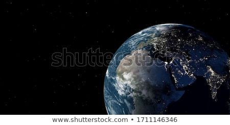 Realistic Earth from space showing Africa, Europe and Asia. Stock photo © ConceptCafe