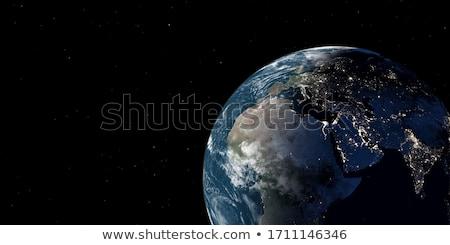 toprak · uzay · Afrika · ayrıntılı · görmek - stok fotoğraf © conceptcafe