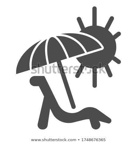 Summer Travel Line Web Glyph Icons Stock photo © Anna_leni