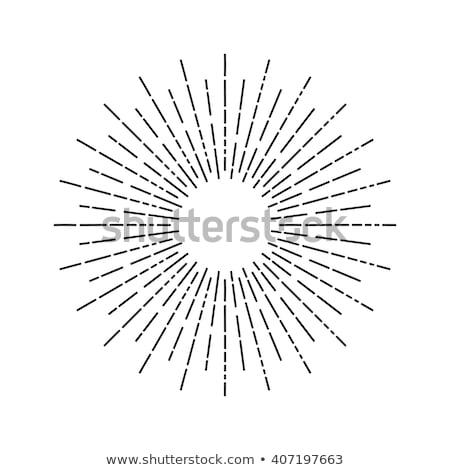 Sole illustrazione raggi geometrica design Foto d'archivio © kyryloff