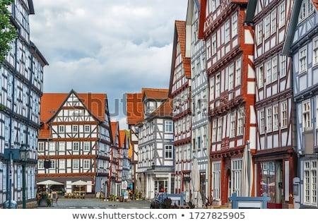 Centrum Duitsland historisch huizen huis hout Stockfoto © borisb17