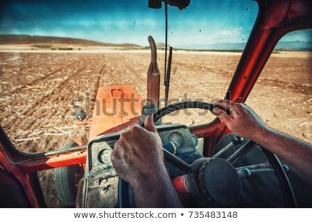 Récolte saison tracteur agriculture travailleurs récolte Photo stock © robuart