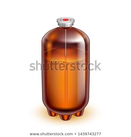 Clásico vidrio barril agua mineral vector marrón Foto stock © pikepicture