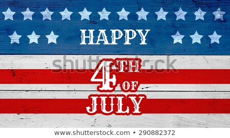 Gelukkig hout USA vlag Stockfoto © limbi007