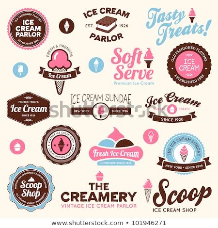 sorvete · compras · conjunto · vintage · moderno - foto stock © netkov1