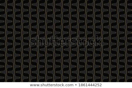 Elegante preto dourado ziguezague formas cartão de visita Foto stock © SArts