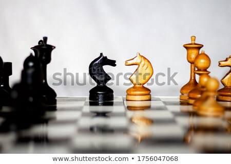 Stockfoto: Begin · spel · twee · schaken · teams · verschillend