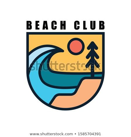praia · férias · turismo · viajar · cômico · desenho · animado - foto stock © dashadima