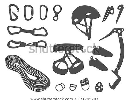 Bescherming helm uitrusting vector icon dun Stockfoto © pikepicture