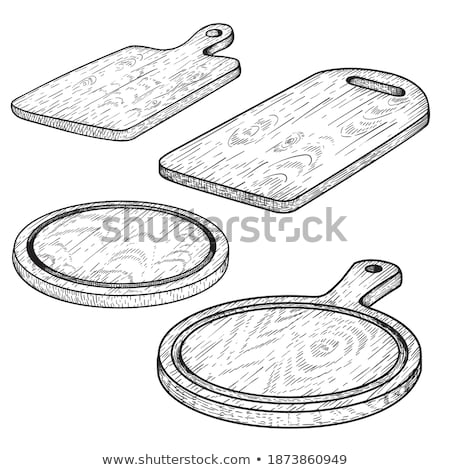 Kitchenware Utensils Collection Ink Set Vector Stock photo © pikepicture
